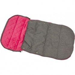 Śpiworek Zimowy Dla Dzieci 90X45Cm Polar Pikowany Z Podszyciem Fuksja / Melanż