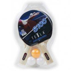 Zestaw 100 Do Tenisa Stołowego Tesla 2 Rakietki + 3 Piłeczki