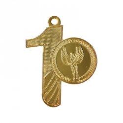 Medal Złoty Pierwsze Miejsce Z Miejscem Na Emblemat 25 Mm - Medal Stalowy