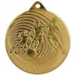 Medal Metalowy Piłka Nożna Fi 70 Mmc3070 - Złoto