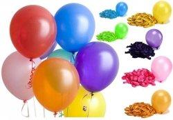 Balony Metaliczne Zestaw Różne Kolory 100 SZT