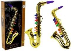 Zabawkowy Saksofon instrument w kolorze złotym