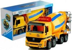 Duża Betoniarka Ruchome Elementy Żółta Ciężarówka