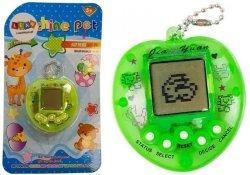 Gra Elektroniczna Tamagotchi + Smycz Zielona