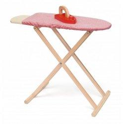 Zestaw Drewniana deska do prasowania dla dzieci Viga z żelazkiem