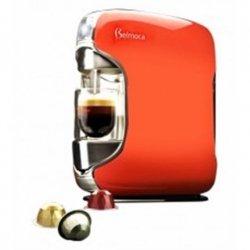 Coffee maker Belmoca Belina Pump pressure 19 bar, Capsule coffee machine, 1450 W, Red