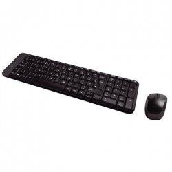 Logitech MK220 Wireless Keyboard And Mouse, Keyboard layout EN/RU, Black, Mouse included, Russian, USb Mini reciever