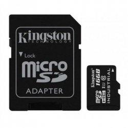 Kingston Industrial Temperature UHS-I U1 16 GB, MicroSDHC, Flash memory class 10, SD Adapter