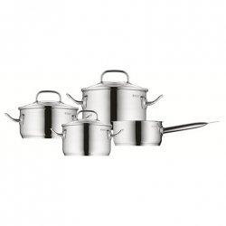 WMF Pot Set, 4 pcs. Profi Plus 1, 20, 16, 24 cm, Cromargan® 18/10 stainless steel, Stainless steel, Dishwasher proof, Lid inclu