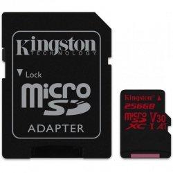 Kingston UHS-I Video Speed Class (V30) 256 GB, MicroSDXC, Flash memory class 10, SD adapter