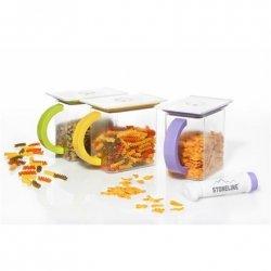 Stoneline Vacuum saver food storage container set with pump 14069S 3 rectangular containers set, Transparent