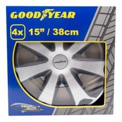Goodyear Rim Hubcaps R15 Mega Silver&black Wheel covers