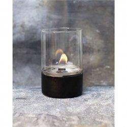 Tenderflame Table burner Tower FlatWick metal Diameter 10 cm, 15 cm, 300 ml, 7 hours, Black