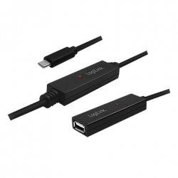 LOGILINK UA0325, USB 2.0 Active Repeater Cable USB-C, 15m
