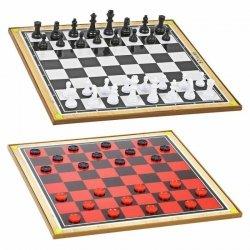 Zestaw gier szachy warcaby 2w1