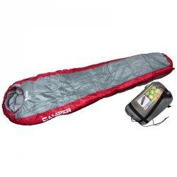 Śpiwór Camper Szary Czerwony 220X80/50 Cm Royokamp