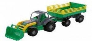 Pojazd Osilek Traktor z przyczepą i łyżką