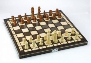 Abino Szachy drewniane klasyczne 31 cm