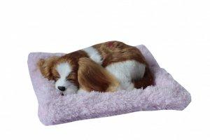ASKATO Maskotka interaktywna Śpiący piesek na poduszcze - spaniel