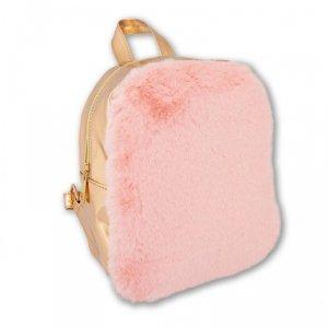 Stnux Plecak różowy złoty futerko Pink&Gold