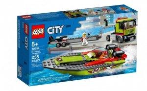 Klocki City Transporter łodzi wyścigowej