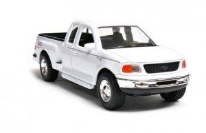 Welly Model kolekcjonerski 1999 Ford F-150 Flareside Supercab Pick Up, biały