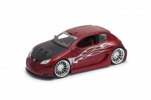 Welly Model kolekcjonerski Peugeot 206 Tuning, czerwony