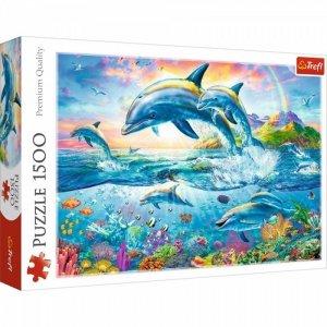 Trefl Puzzle 1500 elementów Rodzina delfinów