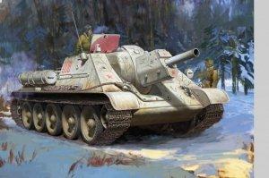 Zvezda Plastikowy model do sklejania SU-122 radzieckie działo samobieżne WWII