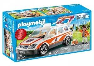 Playmobil Zestaw figurek Samochód ratowniczy ze światłem i dźwiękiem