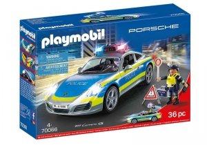 Playmobil Zestaw figurek Porshe 911 Carrera 4s Policja