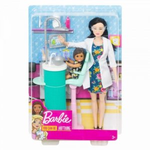 Lalka Barbie Kariera dentystka brunetka