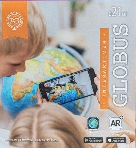 Dante Globus 21 cm z mapa fizyczna i aplikacją