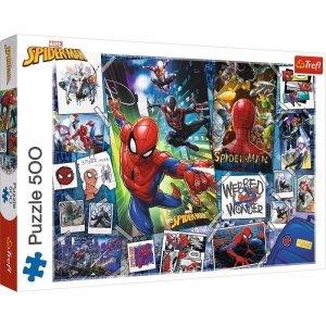 Trefl Puzzle 500 elementów Plakaty z superbohaterem Spiderman