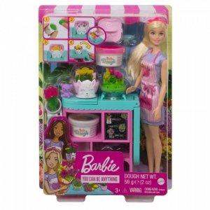 Mattel Lalka Zestaw do zabawy Barbie Kwiaciarnia