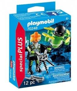 Playmobil Zestaw figurek 70248 Agent z dronem