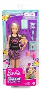 Mattel Lalka Barbie Opiekunka + bobas + akcesoria GRP13