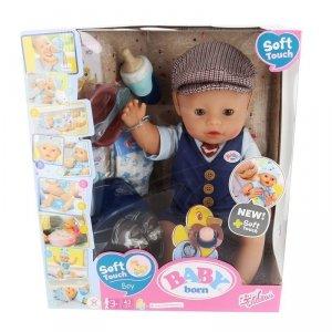 Zapf Lalka BABY BORN Soft Touch lalka elegancki chłopiec 43cm