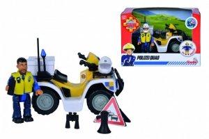 Simba Pojazd Strażak Sam Quad  policyjny z figurką