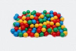 MISIOO Piłki do basenu niebieska, żółta, czerwona, zielona