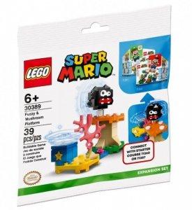 LEGO Klocki Super Mario 30389 Fuzzy i platforma z grzybem