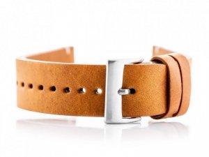 Pasek skórzany do zegarka W118 - camel - 24mm