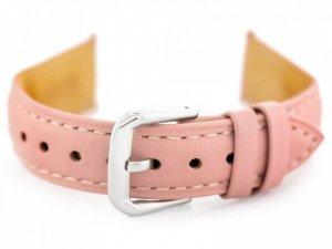 Pasek skórzany do zegarka W94 - jasnoróżowy - 16mm