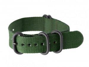 Pasek NATO parciany do zegarka - zielony - 22mm