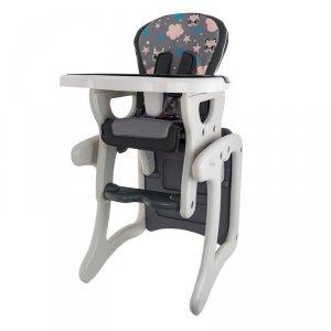 Krzesełko + stół hb-gy01 grey cat