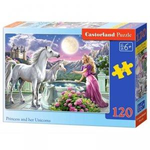 Puzzle 120el. princess unicorn