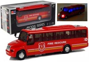 Model Autobusu Bus Straży Pożarnej Świeci Czerwony