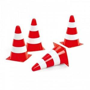 Rolly Toys Pachołki drogowe Zestaw 4 pachołków Ostzregawczych