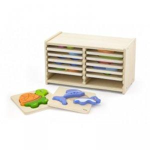 Viga Toys  Puzzle drewniane 12 plansz