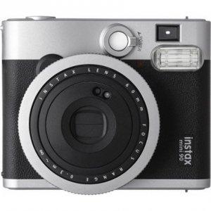 Fujifilm Instax Mini 90 NEO CLASSIC camera + Instax mini glossy (10) Black/Stainless steel, 0.3m - ∞